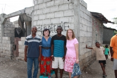 Pastor Samuel, Kim, Ricotson and Denise Laman Outreach and Bethel Baptist are partners in the Elderly Project